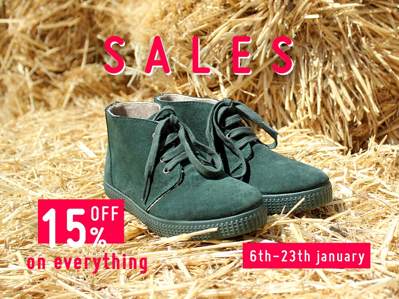 The January 2020 sale at Pisamonas! The best offers on kids footwear