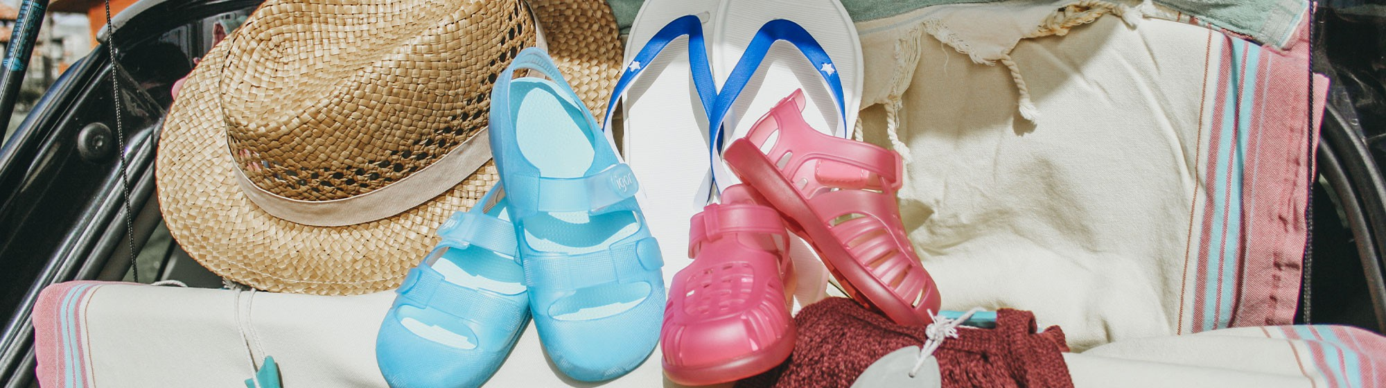 Jelly Sandals and Beachwear