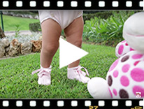 Video from Patent Leather Booties for Baby with Bow