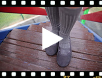 Video from Girls Ballet Pumps with Crossed Ribbon