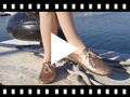Video from Metallic Leather Girls' Bluchers