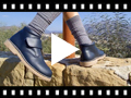 Video from Leather School Boots with Velcro