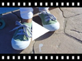 Video from Lace-Up Rubber Toe Cap Canvas Trainers
