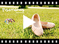 Video from Suede Ballet Pumps With Elastic And Star Punch Hole Detail