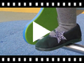 Video from Ballerina shoes with Glitter Stars and Elasticated Strap