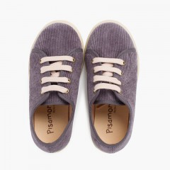 Corduroy shoes with wide sole Grey