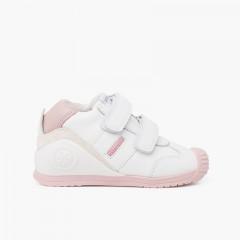 Biomecanics double adherent strap shoes Pink