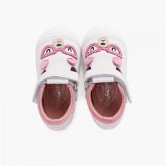 Teddy bear first steps flexible sole sandals Pink