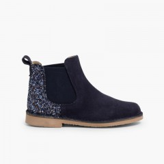 Girls Chelsea Boots with Glitter