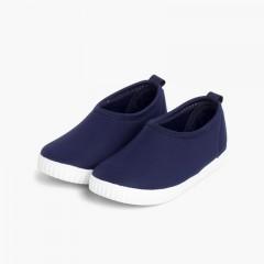 Kids Neoprene-style Water Shoes Navy Blue