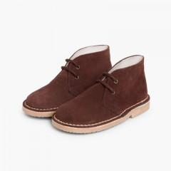 Lace-up Safari Desert Boots Brown