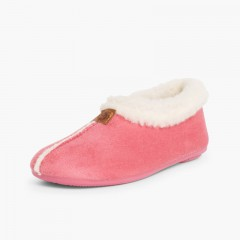 Faux Sheepskin Slippers Pink