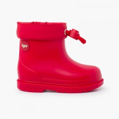 Wellington boots for children pastel colors Red