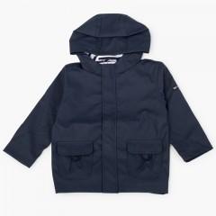 Boys raincoat with zip closure pockets Navy Blue