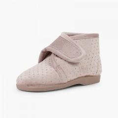 Sparkling slipper boots Beige