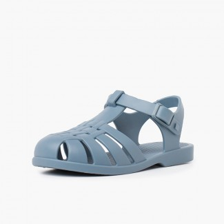 Children's sandals with buckle clasp in dusty colors Blue
