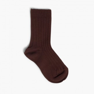 CONDOR Short Ribbed Socks Brown