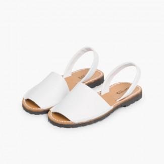 Nappa Avarcas Menorcan Sandals White