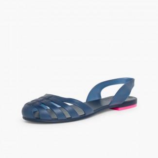 Rubber Sandals for Women Paris Navy Blue