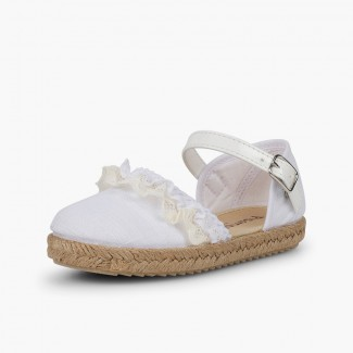 Espadrilles with Lace White