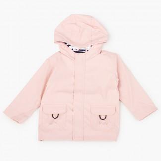 Boys raincoat with zip closure pockets Blush pink