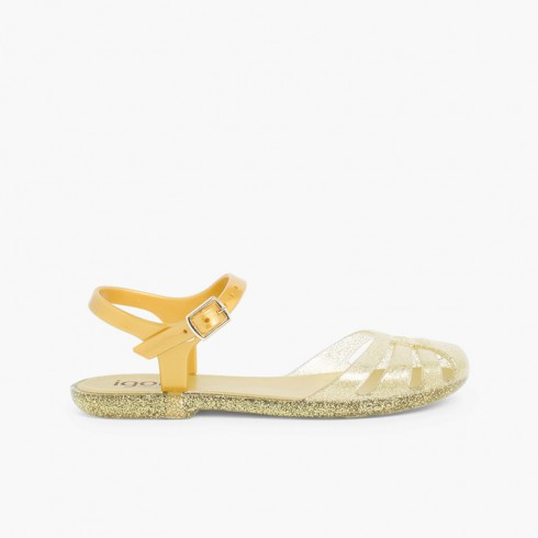 Girls Jelly Sandals Mara Mini Gold
