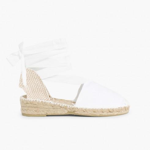Plain Ankle-Tie Espadrilles