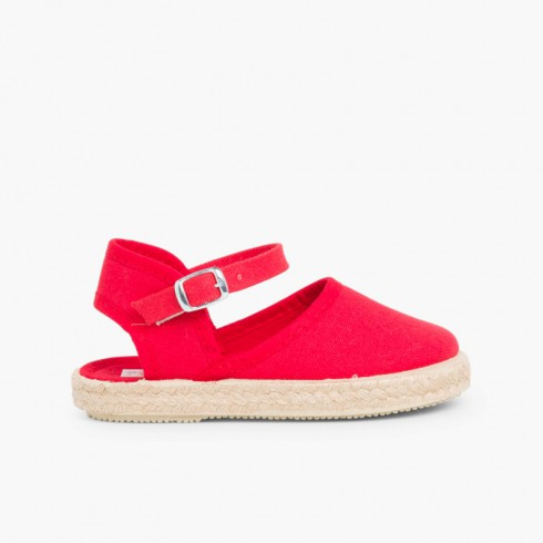 Girls Buckle up Espadrille Wedge