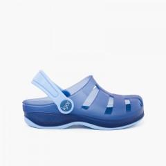 Surfi Rubber Clogs for Kids Navy Blue