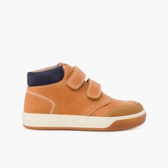Garvalín casual boot with adherent closure Tan