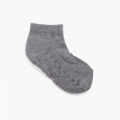 Non-slip children's ankle socks Grey