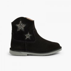 Boots for girls and women with stars and zip