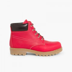 Walking style Boots for Kids and Adults Red