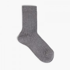 CONDOR Short Ribbed Socks Grey