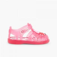 Girls Peppa Pig Jelly Shoes Fuchsia