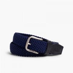 Boy's Elastic Braided Belt Navy Blue