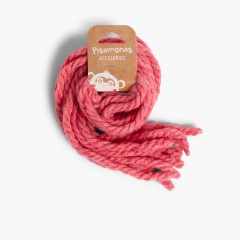 Hair strands for girls in monochrome wool La France Pink
