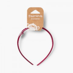Girls' Crown-Style Headband Burgundy