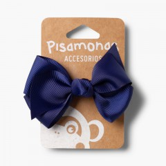 Girls Hair Elastic Large Bow Navy Blue