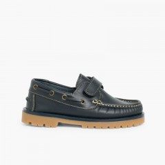 Boys Riptape Deck Shoes Navy Blue