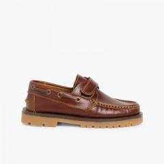 Boys Riptape Deck Shoes Brown