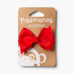 Girl´s Hair Clip - Medium Bow Red