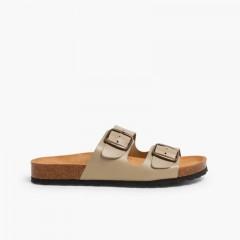 Boys' Bio Sandals with Buckles Beige