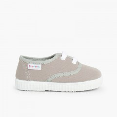 Kids Lace-Up Trainers Grey
