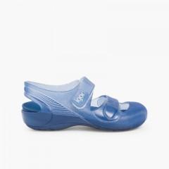Beach & Pool Jelly Sandals Bondi Navy Blue