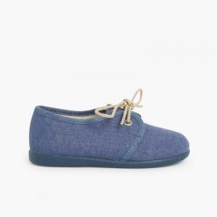 Boys Canvas Blucher Shoe Blue
