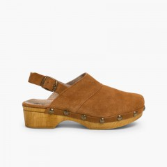 Clogs With Wood-like Soles  Tan