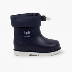 Short Adjustable Wellies Toddlers Navy Blue