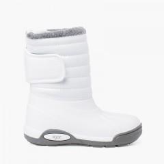 Patent Après-ski boots Fur Lining Adjustable Closure White