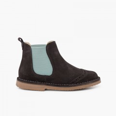 Side stretch chopped chelsea boot Grey